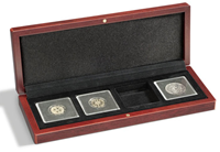 Mønt-etuier Volterra til 4 Quadrum-møntkapsler