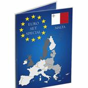 Verzamelkaart voor Euromunten sets SPECIAL Malta