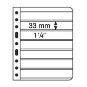 Vario indstikskort - 7 Striber - Klar - Pakke med 5 stk.