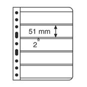 Vario indstikskort - 5 Striber - Sort - Pakke med 5 stk. fra Leuchtturm