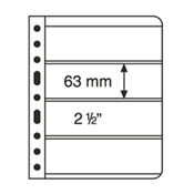 Vario indstikskort - 4 Striber - Klar - Pakke med 5 stk.