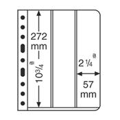 Vario indstikskort fra Leuchtturm, 3 Striber V3VC Klar. Pakke med 5 Stk.