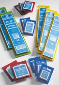 SF-klemstroken - 24 x 41 - glas helder - blauwe verpakking - 50 stuk