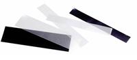 Klemlommer i striber - forskellige størrelser -  sort - 100g