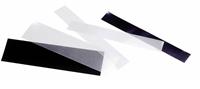 Klemlommer i striber - forskellige størrelser -  glasklar - 50g