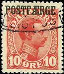 Danmark 1919-20 - AFA nr.1 - Postfærge - Stemplet