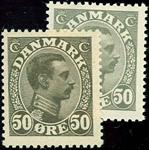 Danmark Chr. X 1921-22 - AFA nr.129+129a postfrisk