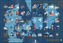 Danmark jul 1959 foldet