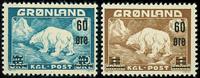 Grønland 1956, AFA nr. 37-38 - Postfrisk