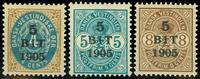 DVI 1905, AFA nr. 33-35 - Postfrisk