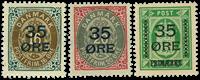 Danmark provisorier 1912, AFA nr. 60-62 - Postfrisk