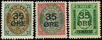 Danmark provisorier 1912, AFA nr. 60-62 - Ubrugt