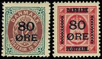 Danmark provisorier 1915, AFA nr. 82-83 - Postfrisk