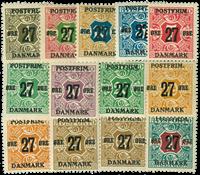 Danmark provisorier 1918, AFA nr. 85-97 - Postfrisk