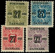 Danmark provisorier 1918, AFA nr. 85-9x - Postfrisk