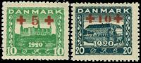 Danmark provisorier 1921, AFA nr. 120-21 - postfrisk