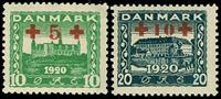 Danmark provisorier 1921, AFA nr. 120-21 - Ustemplet