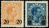 Danmark provisorier 1926, AFA nr. 152-53 - postfrisk