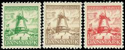 Danmark - Postfrisk sæt 1937, AFA nr. 236-38