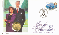 Bryllupsmøntbrev - Prins Joachim og Alexandra Manley