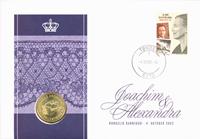 Danmark - Dåbsmøntbrev Prins Felix Henrik Valdemar  Christian