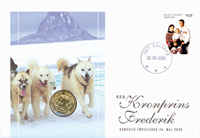 Greenland anniveresary numisletter - Crown Prince Frederik 40 years