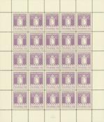 Greenland parcel post complete sheet