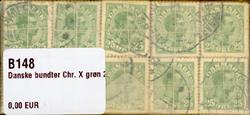 Danmark - bundter - Chr. X grøn 25 øre - 10 stk.