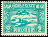 ISLAND - Altinget 2 kronur, postfrisk