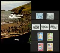 Faroe Islands - Year pack 1982