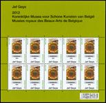 Belgien - Solsikker - Postfrisk ark