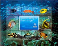 Kina - Koralrev - Postfrisk miniark