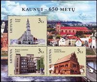 Litauen - Kaunas 650 år - Postfrisk miniark