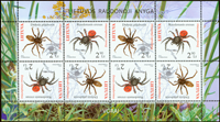 Lithuania - Spiders - Mint sheetlet