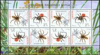 Litauen - Edderkopper - Postfrisk ark