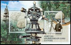 Letland - Struve - Postfrisk miniark