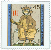 Germany - Emperor Otto der Grosse - Mint stamp