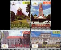 Barbados - Historiske Bridgetown - Postfrisk sæt 4v