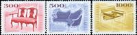 Ungarn - Stole - Postfrisk sæt 3v