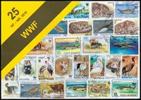 WWF I frimærkepakke med 25 forskellige frimærker