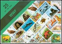 WWF II stamp packet with 25 diff. thematics