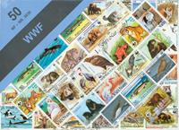 WWF frimærker - frimærkepakke 50 forskellige