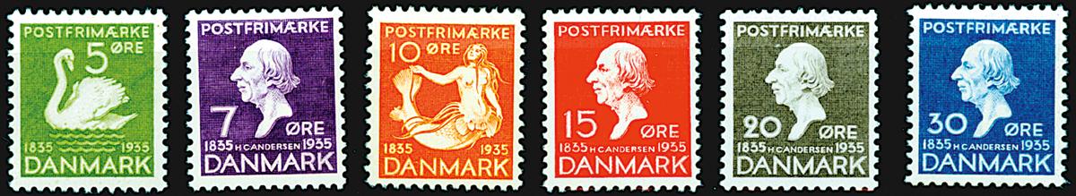 Danmark - H.C. Andersen 1935 komplet