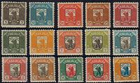 Carel 1922 - Mint set