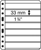 hojas de plástico VARIO, 7 divisiones, negro