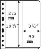 Vario indstikskort - 2 Striber V2VC - Klar - Pakke  med 5 stk., Leuchtturm