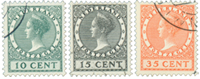 Netherlands 1924 - NVPH 136-138 - Cancelled