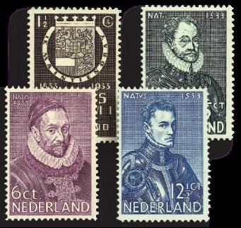 Holland 1933 - NVPH 252-255 - Ubrugt