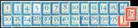 Nederland - Port Cijfer/Waarde Rechthoek 1947-1958  (P80-P106, postfris)