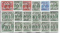 Netherlands 1940 - NVPH 356-373 - Unused